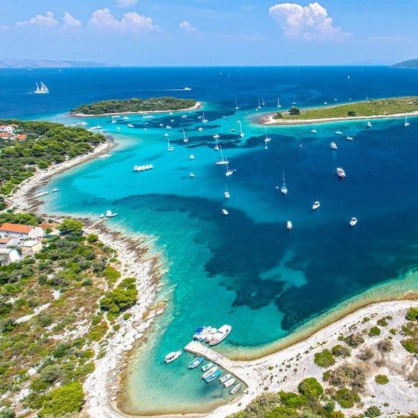 Blue Lagoon and town Trogir
